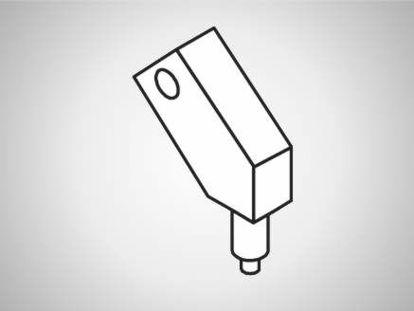 Slika UK-A Swivel element, compact, 30°-L100-type A