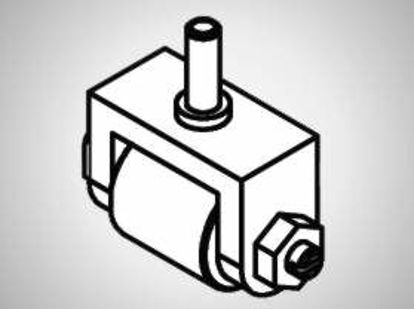 Slika P25A Contact roller O10x15 steel