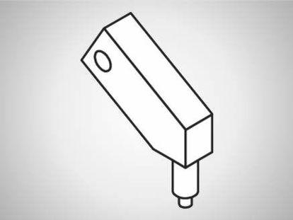 Slika UL-A Swivel element, long, 45°-L100-type A
