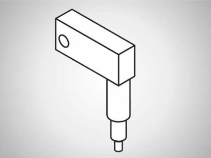 Slika ULV-A Swivel element, long, 90°-L200-type A spring drive
