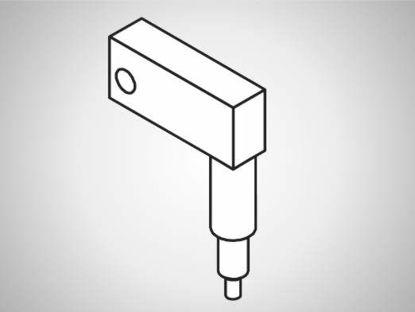 Slika ULV-A Swivel element, long, 90°-L25-type A spring drive