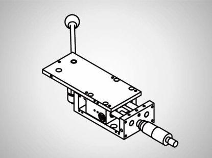 Slika PR79 Linear table 40mm w. man. adjust. + ax. Stop