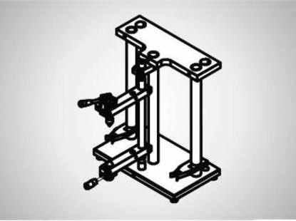 Slika PV140 Vert. measuring stand H400x120 swivel radius 140mm