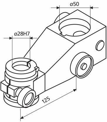 Slika  827 b 18 Support Arm with fine adjustment