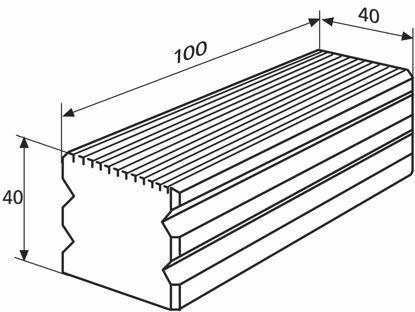 Slika 827 b 31 Plate for single measurement (100 x 40 mm)