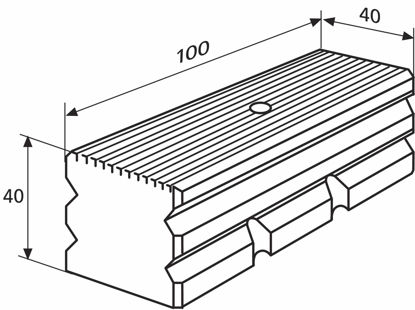 Slika 827 b 32 Plate for sum measurement (100 x 40 mm)