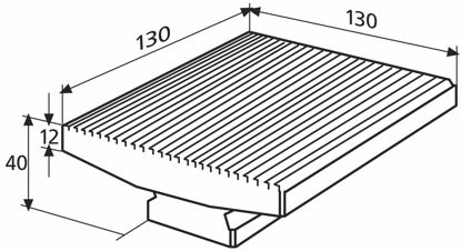 Slika 827 b 33 Plate for single measurement (130 x 130 mm)