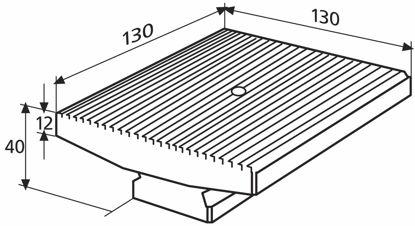Slika 827 b 34 Plate for sum measurement (130 x 130 mm)