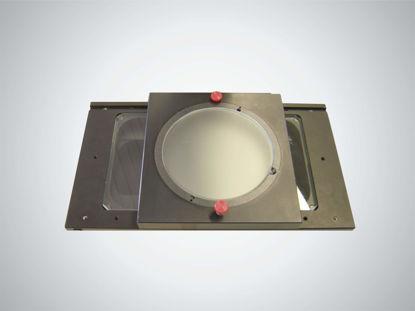 Slika 200 dg Pivoting glass plate, O 100 mm (measuring table 250 x 170 mm)