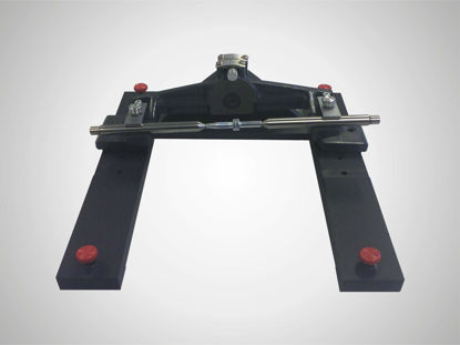 Slika 220 sps Center support, pivoting, Pair, center height 50 mm, distance between centers 130 mm (measuring table 200 x 100 mm)